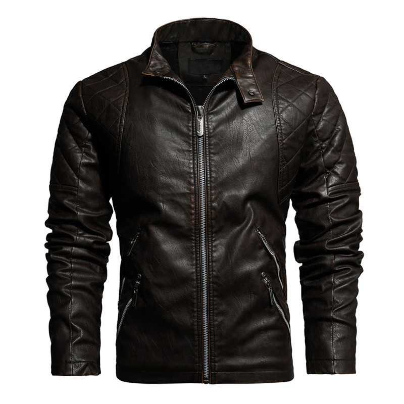 Mountainskin 2020 New Leather Jacket Men Winter Fleece Casual Motorcycle Jackets Autumn Male PU Coat Mens Brand Clothing SA826 2