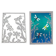 Crazyclown 3pcs/lot Dragonflies Metal Cutting Dies Stamps and Dies Craft Dies Scrapbooking for 2019 Die Cuts for Card Making(China)