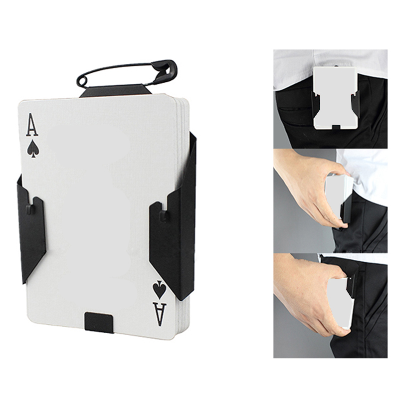 Manipulation Cards Clip Poker Holder Stage Magic Tricks Black Card Device Magic Accessories For Professional Accessories