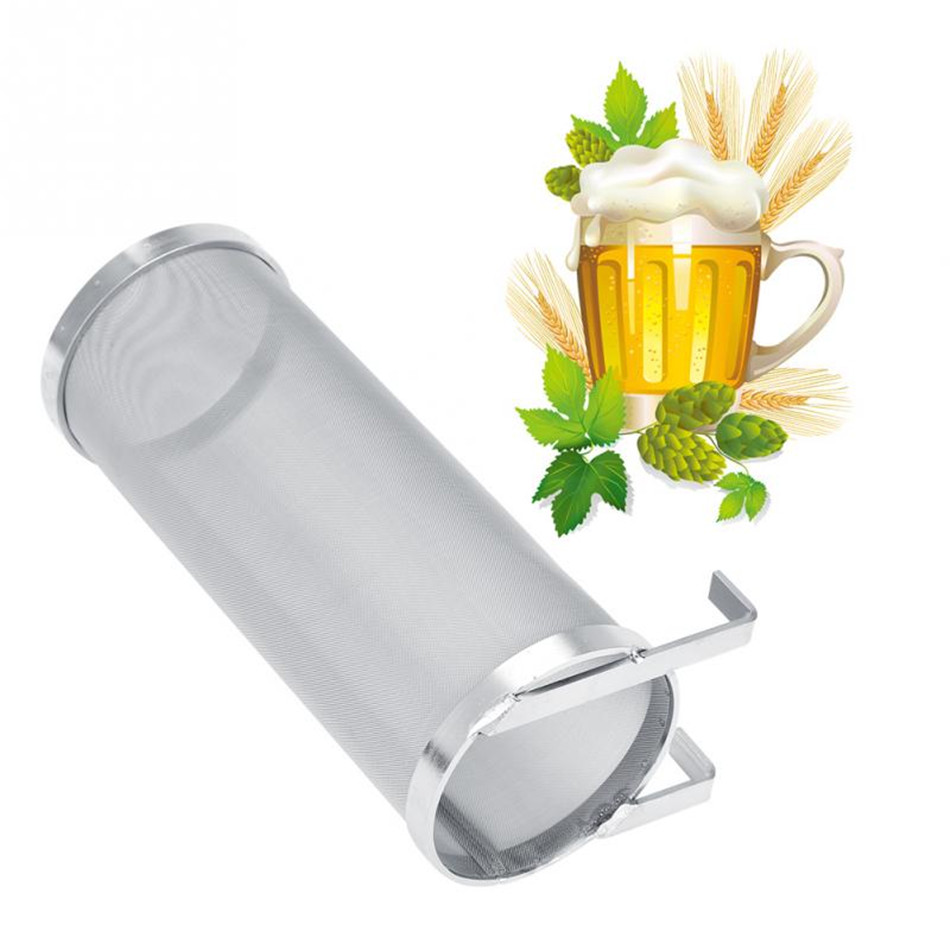 VOGVIGO 300 Micron Homebrew Beer Hop Spider Mesh Filter Strainer Stainless Steel Shell With Hook Reusable Brewing Bar Accessoriy|Beer Brewing|Home & Garden - title=