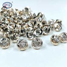 HL 30pcs/package 12mm Shank With Rhinestone Plating Buttons Shirt Sweater Apparel Sewing Accessories Crafts hl 18x15mm 50 100pcs mix color fish shank plastic buttons children s garment sewing accessories diy crafts