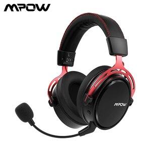 Image 1 - Mpow BH415 Игровая гарнитура 2,4 ГГц Беспроводные наушники 3,5 мм Проводные наушники с микрофоном с шумоподавлением Для ПК Gamer Для PS4 Xbox One