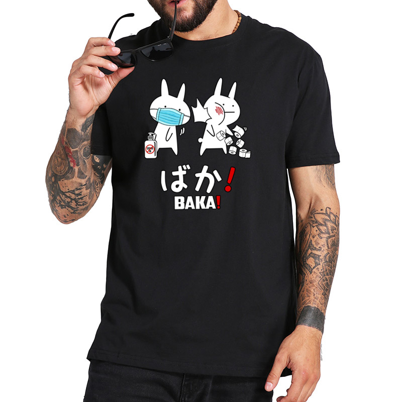 Baka T Shirt Seniors Class Of 2020 Quarantined T Shirt Pure Cotton Breathable Camisetas Japanese Cute Rabbit Slap Tshirt