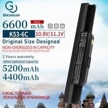 6600 мАч 6 ячеек A32-K53 A42-k53 Новый аккумулятор для ноутбука ASUS k53 K53SV K53 K53B K53BY K53E K53F K53J K53S K53SD K53SJ x54h k53t