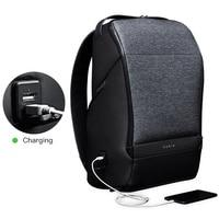 Krion Design FlexPack GO Anti theft Backpack Men Travel Bag USB Charging Laptop Backpack 15.6 inch School Bag for Teenage Boys