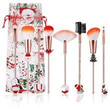 Cosmetic Eyeliner Eyebrow Eyeshadow Brush 8pcs Concealer Blush Loose Powder Make Up Brushes Set Gift Foundation