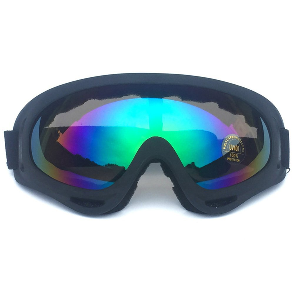 Winter Snow Sports Skiing Snowboard Snowmobile Anti-fog Goggles Windproof Dustproof Glasses Anti-fog Mirrored Lens Goggles