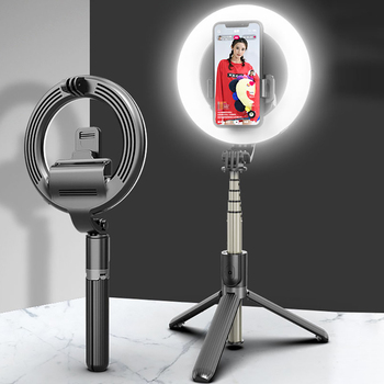 L07 Selfie Stick 4in1 LED Ring Light Wireless Bluetooth Mini Tripod Handheld Extendable Foldable With Remote