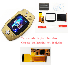 The newest  hot 10 Levels High Brightness IPS Backlight Backlit LCD for Nintend GBA Console  V2 version without picture tearing