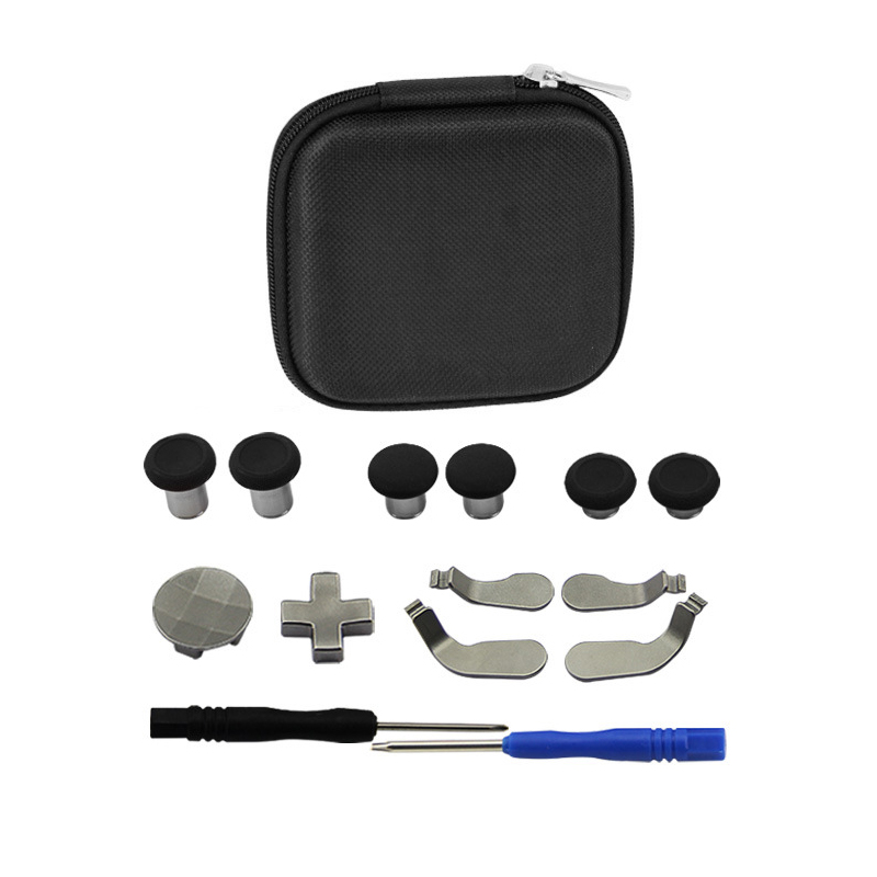 14 in 1 Replacement Metal Buttons Thumb Stick Joysticks Mod Kit For Xbox One Elite Controller Parts
