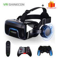 VR Shinecon 10,0 casco 3D gafas de realidad Virtual auriculares para iPhone Android Smartphone gafas Lunette Set