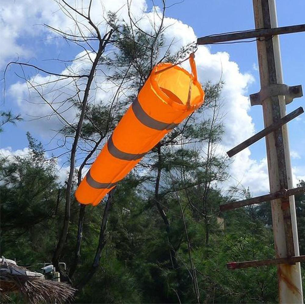 1pcs Airport Windsock Wind Measurement Long Reflective Rip-stop Outdoor Rainbow Wind Measurement Sock Bag With Belt Newest