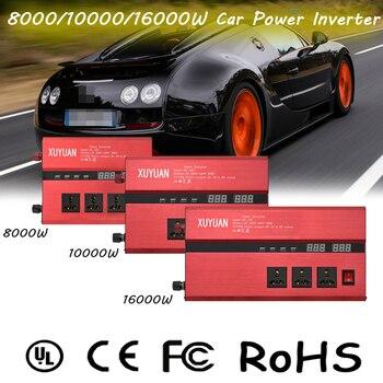 цена на 8000/10000/16000W Car Inverter DC12V to 110V 12/24V to 220V LCD Display with 4USB Ports Car Power Inverter Converter Transformer
