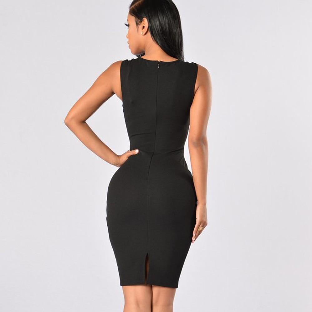 vestido de mujer Women Lace Bodycon Dress Slim Sleeveless Evening Party Pencil Mini Dress femme robe