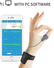 Wearable Pulse Oximeter FDA with Vibration Alert for Sleep Apnea COPD Snore APP PC Report Mate of CPAP Machine Viatom Checkme O2