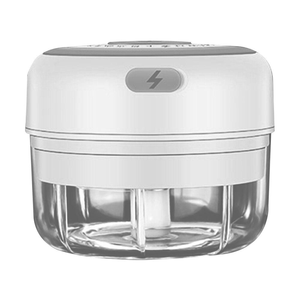 100ml-white-Electric Garlic Crusher Food Shredder Smart USB Baby Food Supplement Machine
