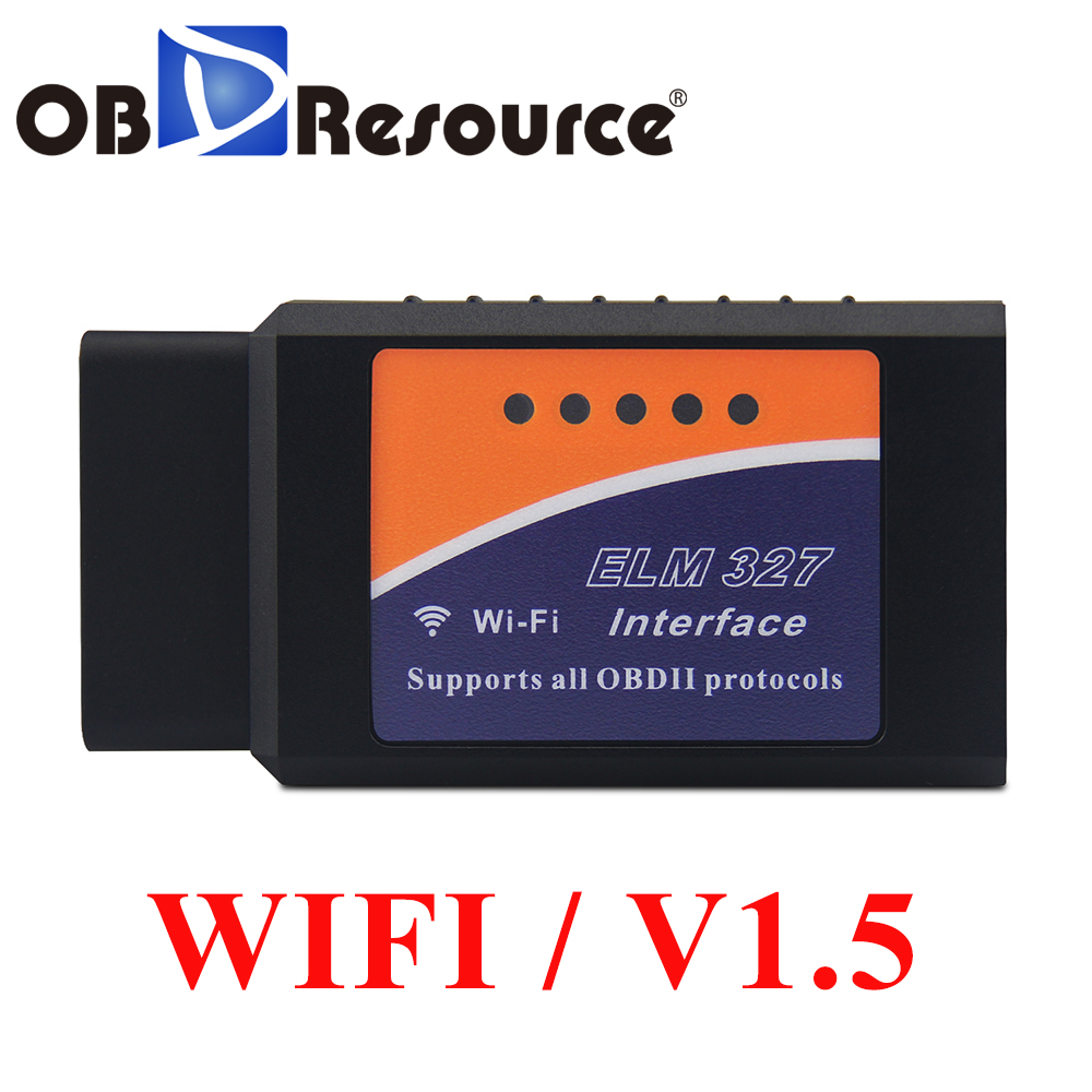 Wifi ELM327 Code Reader PIC18F25K80 OBD Adapter for Andriod iOS PC OBD2 Diagnosis Tool <font><b>ELM</b></font> <font><b>327</b></font> <font><b>V1.5</b></font> WI-FI For Mercedes Volvo VAG image