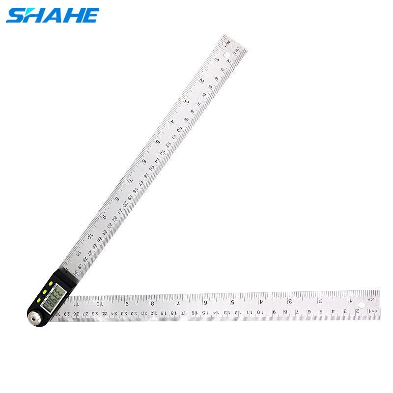 360 degrés 200/300mm règle rapporteur goniomètre numérique angle inclinomètre numérique détecteur d'angle mètre règle numérique goniometro