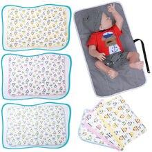 Пеленальные подушечки для новорожденных, переносные складные моющиеся пеленки для путешествий, милый пеленальный коврик