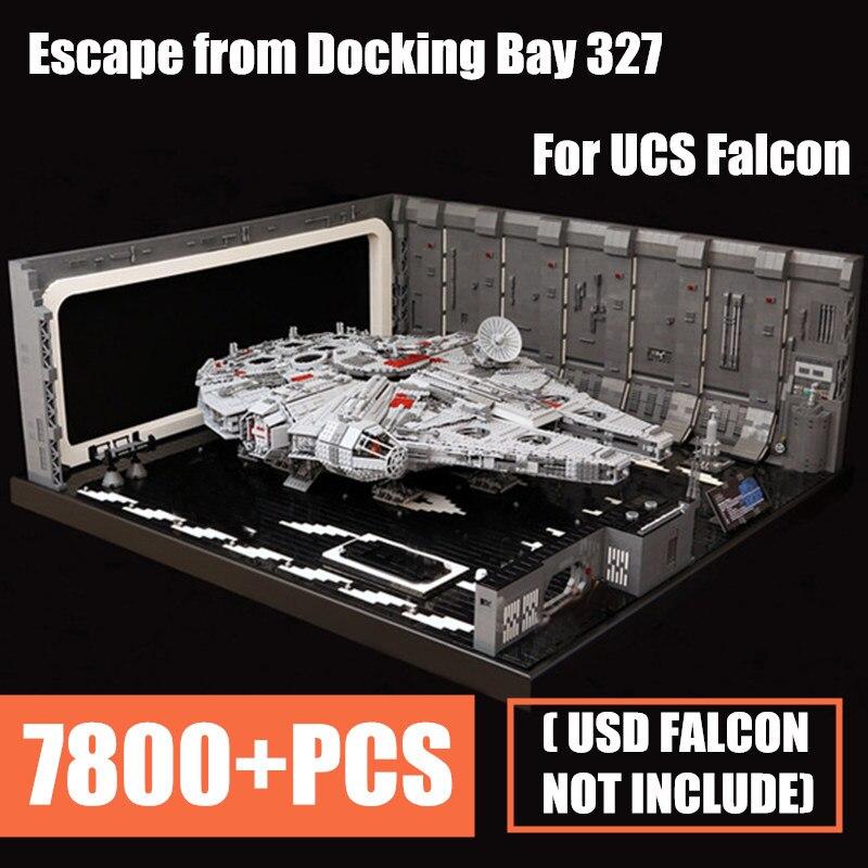 Новый MOC выход из док-отсека 327 вешалка весы UCS Сокол Fit Legoings Star Wars Technic цифры для 05132 75192 детей