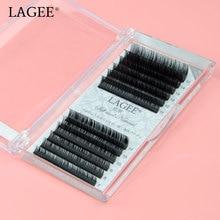 LAGEE Eyelash Extension Individual J B C CC D Curl  Faux Mink Lashes  Soft  False lash make up tools