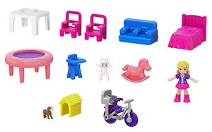 Image 3 - מקורי פולי Pocket מיני פולי קטן תיבת חנות בנות רכב צעצועי עולם מיני סצנת צעצוע מתנת ילדה בובת בית אבזרים juguetes