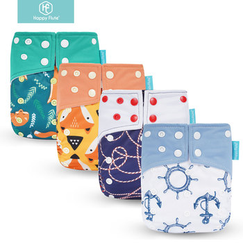 Genuine! Happy Flute OS suede cloth pocket baby cloth diaper with two pockets and double snap