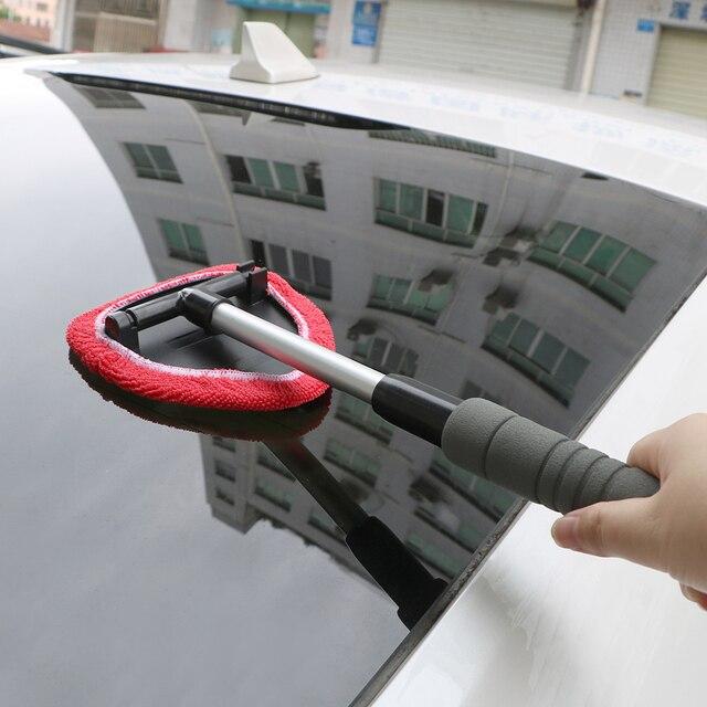 LEEPEE eliminador de niebla para ventana, limpiador de microfibra para limpieza de parabrisas de coche, cepillo telescópico de vidrio