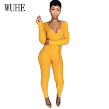 Wuhe Sexy Fashion Thread Pit Women Playsuits with Belt for Elegant Hollow Out V-neck Long Jumpsuits Rompers Plus Size XXL