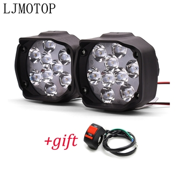 Motorcycle Led Lamps Waterproof Fog Spot Headlight 10W With Switch For KTM 790 1190 990 1050 Adventure Duke 200 390 125 690 image
