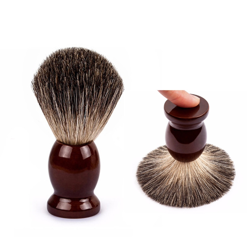 Retro Man Pure Badger Hair Shaving Brush Wood 100% For Razor Double Edge Safety Straight Classic Safety Razor Brush Men Gift