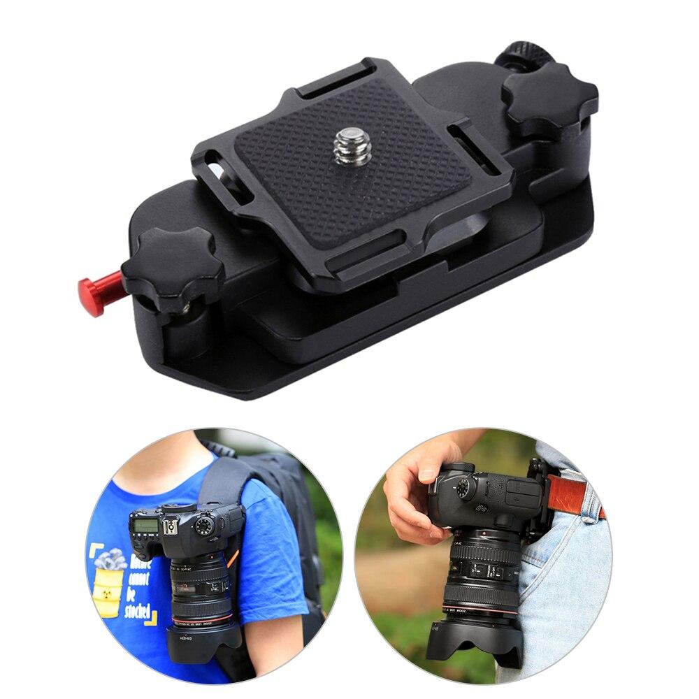 Clipe de câmera câmera cinto coldre montagem clipes da cintura titular liberação rápida clipe com placa 1/4 Polegada parafuso para câmera digital dv dslr