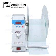 ZONESUN автоматическое устройство перемотки этикетки для одежды стирка этикетка штрих-код этикетка Цена тег самоклеющиеся этикетки стикер Скорость Регулируемая перемотка машина