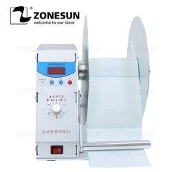 ZONESUN Automatische Label Rewinder Für Kleidung Waschen Label Bar Code Label Preis Tag Selbst-Etikett Aufkleber Geschwindigkeit Einstellbar zurückspulen Maschine