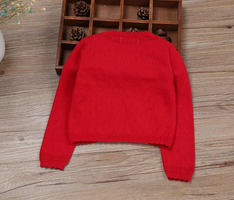 Свитер-кардиган для маленьких девочек; белое пальто с длинными рукавами из 100% хлопка для маленьких девочек; От 1 до 2 лет 2019 г.; одежда для малышей; RKC175024