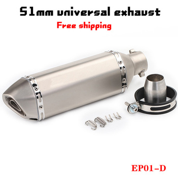 51mm exhaust Universal yoshimura Motorcycle Exhaust Muffler Escape moto System For mt07 mt09 R3 r25 PCX125 pcx Slip-on