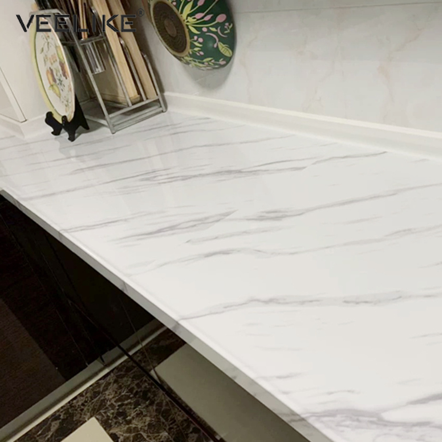 Marble Wallpaper Self Adhesive Wallpaper Kitchen Countertop Waterproof Stickers