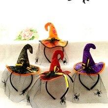 Хэллоуин фестиваль Реквизит повязка на голову взрослые детские вечерние милые забавные милые повязка на голову в виде паука головные уборы