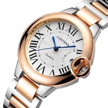 Zegarki luksusowe dla kobiet 2020 zegarki damskie kobieta modne zegarki zegary damskie zegarki damskie ze stali nierdzewnej Montre Femme tanie tanio contena QUARTZ Bransoletka zapięcie STAINLESS STEEL Nie wodoodporne Biznes 18mm ROUND Odporny na wstrząsy Hardlex Top Brand Luxury Woman Watches