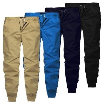 INCERUN 2020 Plain Pants Men Casual Trousers Joggers Slim Fit Man Clothes Pants With Elastic Cuff Clothing Pantalon Hombre Pants
