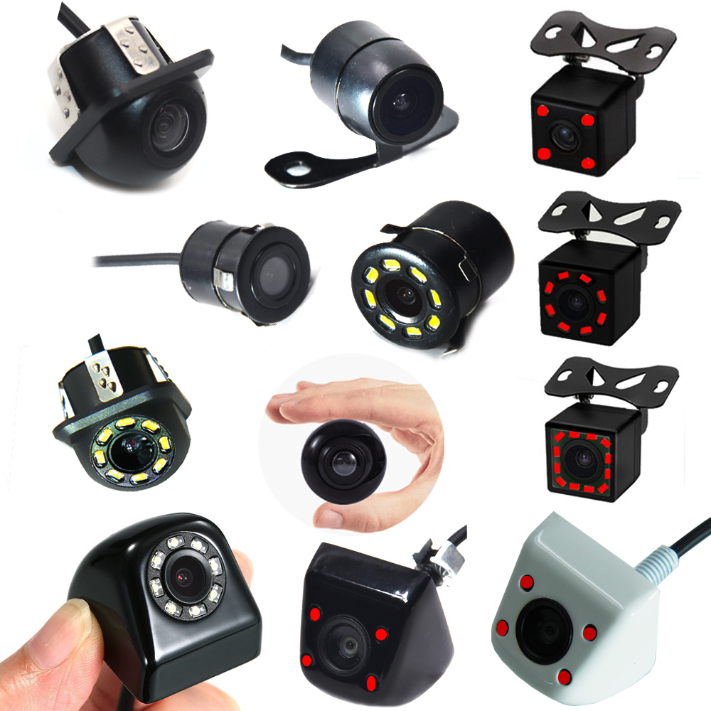 Car Rear View Camera 4LED Night Vision Reversing Auto Parking Backup For Car Monitor Android CCD Waterproof 170 Degree HD Video