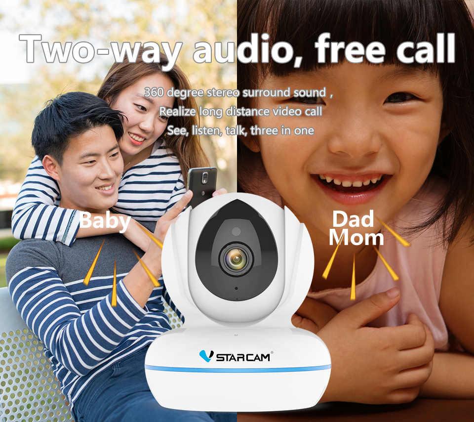 Vstarcam 4MP Full HD 2.4G/5G WiFi Wireless IPกล้องC22Q H.264/H.265 Night Vision Intercom miniกล้องเฝ้าระวังความปลอดภัย