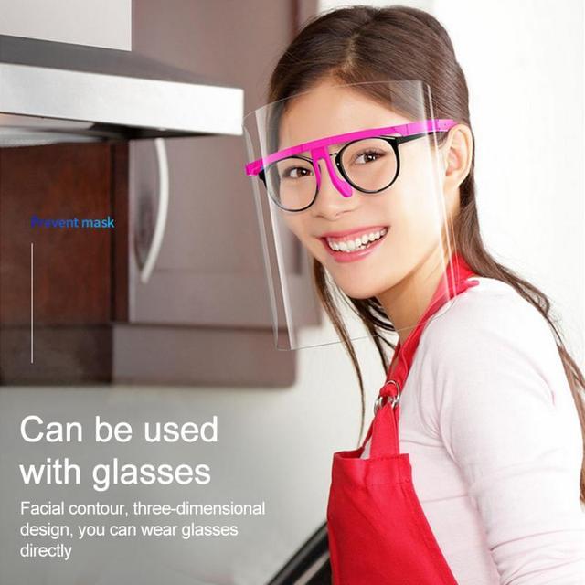 1PC Splash-Proof Protective Face Shield Reusable Full Face Protective Shield Saliva Protection Clear Visor Kitchen Accessories 1