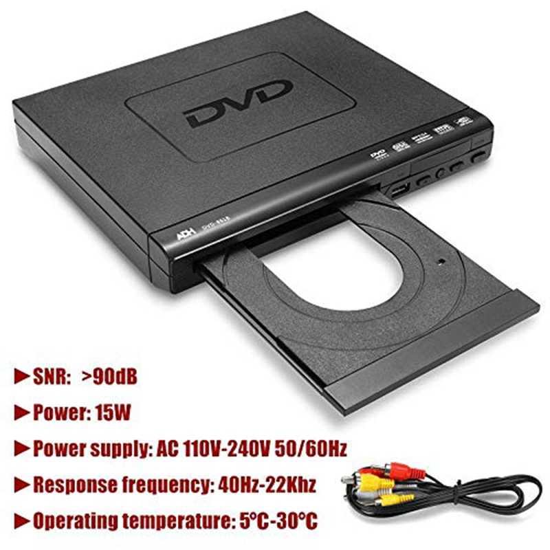 110 فولت-240 فولت USB المحمولة متعددة مشغل ديفيدي أد دي في دي CD SVCD VCD مشغل الأقراص نظام المسرح المنزلي مع جهاز التحكم عن بعد الاتحاد الأوروبي التوصيل
