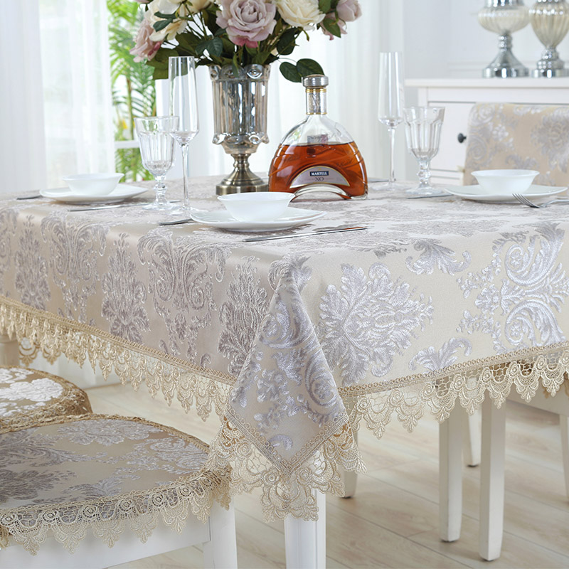 Proud Rose European Elegant Tablecloth Lace Table Cloth Exquisite Table Runner Tablecloths Home Decor Dustcloth Chair Cover in Tablecloths from Home Garden