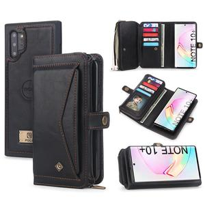 Image 1 - For Samsung Note 10 Plus Wallet Case Luxury Zipper Detachable Magnetic Leather Cover Case for Samsung Galaxy Note 10 S10 S9 Plus