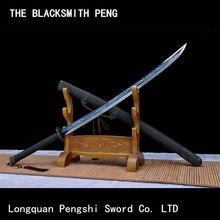 Couteau de printemps brodé/dao incurvé dans la dynastie Ming/taille Qing/épées pointues chinoises/véritable épée en métal/katana/sabre de taille