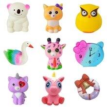 Kawaii, мягкие игрушки для детей, единорог, забавная антистрессовая игрушка, милый мультфильм, медленно поднимающийся, мягкие игрушки, детский подарок