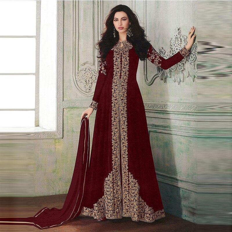 India Dan Pakistan Pakaian Wanita Rok Panjang Muslim Cetak Mulia Dan Termasuk Hijab Gaun Arab Kimono Islam Mewah Gaun Pakaian Islamic Aliexpress