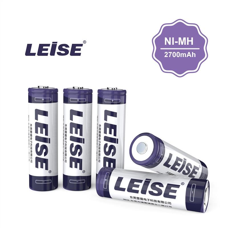 LEISE AA 2700 mAh NI-MH Akku Mit Batterie fall 2A 1,2 v 2700mah Nimh Batterie Freies Verschiffen für spielzeug